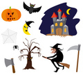 Witch,Halloween,Castle,Symb...
