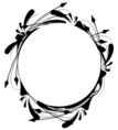 Frame,Circle,Flower,Black C...