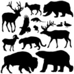 Animal,Silhouette,Bear,Rein...