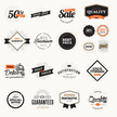 Set of vintage premium quality badges and stickers