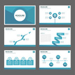 Blue polygon Multipurpose infographic element presentation Template