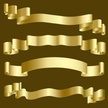 Banner,Gold Colored,Ribbon,...