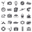 Camping,Train - Vehicle,Icon Set,Airplane,Journey,Passenger Ship,Vector,Ship,Pointer Stick,Leisure Activity,Binoculars,Cocktail,Travel,Symbol,Illustration,Credit Card,Design,Train,Bus,Ticket,Navigational Compass,Passport,2015,No People,Airplane Ticket,Suitcase
