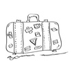 Journey,Bag,Suitcase,Drawin...