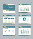 Vector template presentation slides background design