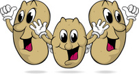 Raw Potato,Cartoon,Cheerful...