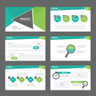 Abstract triangle Green presentation template Infographic elements brochure flyer