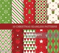 Ten Christmas different seamless patterns.