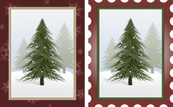Postage Stamp,Frame,Tree,Sn...