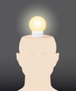 Human Head,Light Bulb,Open,...