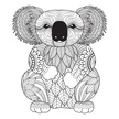 Doodle,Animal,Photographic Effects,Animal Markings,Vector,Mosaic,Computer Graphic,Abstract,Mammal,Drawing - Activity,Koala,Tangle Pattern,Pattern,Cute,Coloring,Illustration,Ornate,Nature,Animal Wildlife,Portrait,2015,Bear