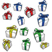 Gift,Ribbon,Wrapped,Green C...