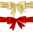 Bow,Gold Colored,Red,Ribbon...