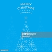 merry christmas and happy new year greeting card blue