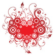 Heart Shape,Floral Pattern,...