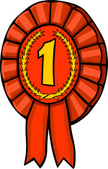 Award Ribbon,Number 1,Carto...