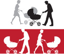 Baby Stroller,Mother,Silhou...