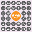 business and finance icons icon set.