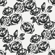 Vintage Rose,Black And Whit...