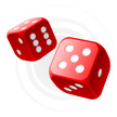 Dice,Leisure Games,Red,Gamb...