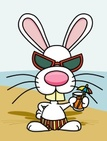 Rabbit - Animal,Cartoon,Bea...