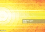 Bright yellow abstract background with white lines