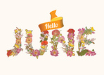 June,Hello,Flower,Holiday,S...