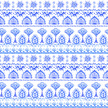 Seamless pattern with Indian motifs.