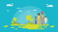 Grass,People,Outdoors,Flat,Vector,Backgrounds,Women,Adult,Illustration,Females,Nature