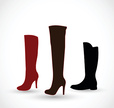 Black Color,Boot,Brown,Silh...