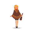 People,White Background,Sparse,Hippie,Cut Out,Lifestyles,Primitivism,Standing,Vector,Adults Only,High Heels,Simplicity,Computer Graphic,Women,Adult,Cute,Ukelele,Illustration,Multi Colored,Poncho,Guitar,Image,Geometric Shape,White Color,Portrait,Redhead,Freckle,Small