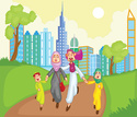 Arabia,Child,People,Husband,Lifestyles,Islam,Turban,Vector,Backgrounds,Boys,Family,Clothing,Men,Computer Graphic,Women,Adult,Cheerful,Mother,Cultures,Father,Illustration,Females,Daughter,Wife,Ethnicity,Love - Emotion,Middle Eastern Ethnicity,Togetherness,Parent