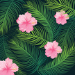 Vector,Hibiscus,Vacations,B...