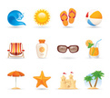 Beach,Summer,Icon Set,Vacat...