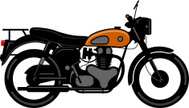 Motorcycle,Old-fashioned,Bi...