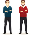Casual Clothing,Standing,Men,Businessman,Cartoon,Happiness,White,Shirt,Male Beauty,Positive Emotion,Cheerful,Beard,Crossing,Full,Jeans,Human Hand,Characters,Backgrounds,Males,Human Arm,Office,Vector,Teacher,Isolated,Adult,Sweater,Clothing,Smiling,Business,Manual Worker,Illustration,Young Adult