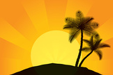 Beach,Vector,Palm Leaf,Tree...