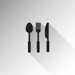 Black Color,Spoon,Vector,Di...