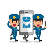 Using Phone,Police Force,In...