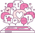 Technology,Love,Education,Multilingual,Vector,Thinking,Business,Talking,Discussion,Speech,Single Word,Friendship,Romance,Femininity,Application Software,Pink Color,Telephone,Service,Exclamation Point,Messenger,Multimedia