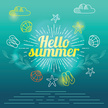 Summer,Hello,Illustration,V...