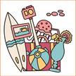 Doodle,Vacations,Label,Fun,...