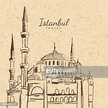Istanbul,Black Color,Mosque...