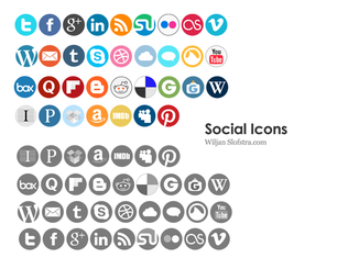 Rounded Social Icons
