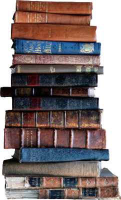 stack of books PSD