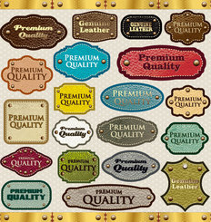 Leather labels vector-3