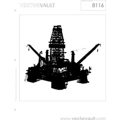 OIL RIG FREE VECTOR.eps