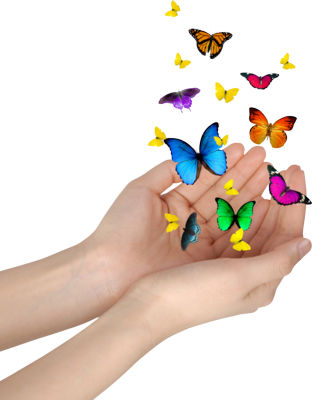 butterfly hands PSD