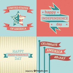 Independence day templates set