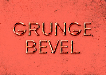 Grunge Bevel Text Effect